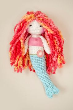 Beautiful crochet mermaid listed in my shop, handmade by me. Her hair is a soft wool blend. She's just as plush, soft, and pretty as can be. :)  ------------------------------------------------------- tags: rag doll, plush doll, soft doll, mermaid doll, lina marie doll, amigurumi, wool doll, tejido, muñeca tejida, ocean, pink, blue, crochet flower, valentines day doll, valentines  ---follow me on Instagram: linamariedolls :)