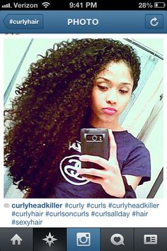 Her hair is awesome. Amazing length, curl pattern, definition. I want her hair...