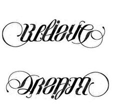 Disaster ambigram tattoos 02 for Tattoos that say something different upside down