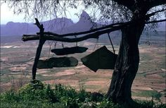 The Stone Bells at the Rock-Hewn Churches of Tigray, Ethiopia.