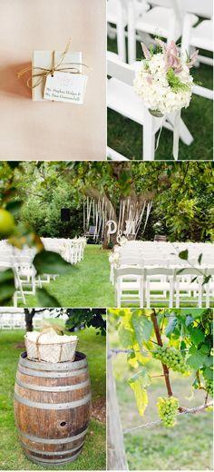 beautiful vineyard wedding