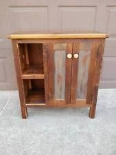 AMISH BUILT HANDMADE UNFINISHED RECLAIMED BARN WOOD RUSTIC BATH VANITY  CABINET