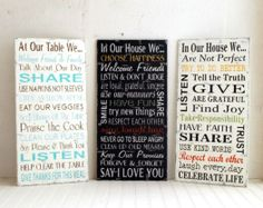 Subway Art from Signs of Vintage Etsy Shop. I want 1 of these signs so pretty Family Rules, Family Kids, House Rules, So Little Time, Etsy Vintage, Sweet Home, Organization, Organizing, Diy Projects