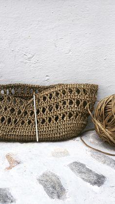 Treble Crochet Stitch, Crochet Stitches, Crochet Patterns, Diy Crochet, Crochet Bags, Crochet Market Bag, Net Bag, Jute Bags, Crochet Handbags