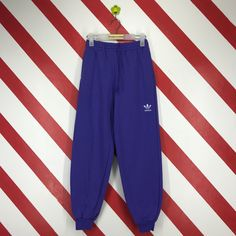 d199c7239236 Vintage 90s Adidas Sweatpants Adidas Jogger Pants Adidas 3 Stripe Pants  Adidas Trousers Pants Adidas Small Logo Printed Purple Size Medium