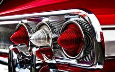 #ClassicCar tail lights. #Impala? #coolcars QuirkyRides.com