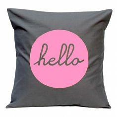 Hello handmade cushion cover - hardtofind.