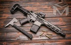 Weapons Guns, Guns And Ammo, Custom Guns, Custom Ar, Ar15 Pistol, Ar Build, Battle Rifle, Submachine Gun, Assault Rifle