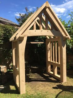 Handcrafted Oak Porch kit. | eBay! Porch Canopy, Door Canopy, Timber Frame Garage, Timber Frames, Cottage Porch, House Porch, Front Porch Design, Porch Designs, Shed With Porch