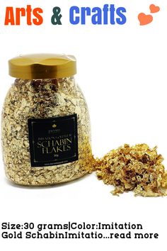 Size:30 grams|Color:Imitation Gold SchabinImitation gold leaf flakes for crafts … (This is an affiliate link) Gold Leaf, Flakes, Craft Supplies, Perfume Bottles, Arts And Crafts, Perfume Bottle, Art And Craft, Craft