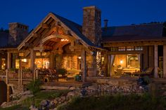 Gorgeous log cabin home by SBC Builders, Bozeman, Montana Log Cabin Living, Log Cabin Homes, Log Cabins, Montana, Small Log Homes, H & M Home, Cabins And Cottages, Cabins In The Woods, Simple House