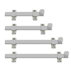 Made from stainless steel, these heavy duty security bolts are mounted in the inside of a door or like, allowing extra security at heavy duty grade while other locks are not in use.