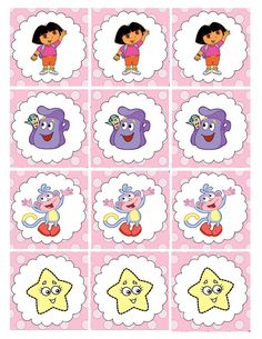 Printable cupcake toppers for a Dora birthday party
