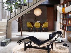 37 Inspiring Tree Interior Design Ideas - We humans evolved surrounded by plants, no wonder we find them so easy on the eye. No home or office interior is complete without at least a few plant. Australian Interior Design, Interior Design Awards, Concrete Staircase, Concrete Floors, Staircase Design, Ficus Lyrata, Travertine Coffee Table, Tree Interior, Room Interior
