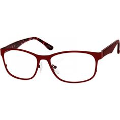1e1505bf1cd7 understated and cute  ZenniOptical A stainless steel full-rim frame with  acetate temples.