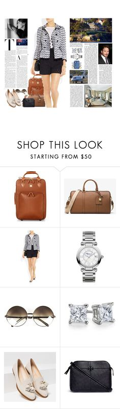 """Untitled #2740"" by duchessq ❤ liked on Polyvore featuring Aspinal of London, MICHAEL Michael Kors, Burberry, Chopard, Blue Nile, Zara and Tory Burch"