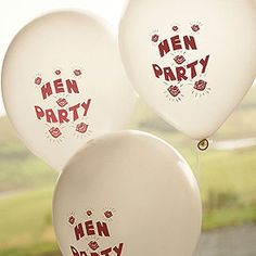 White #Hen Party Balloon Pack -  decorate your hen party venue, or tie to each hen's wrist so that you don't lost each other while you're celebrating only £1.99 FOR 25!