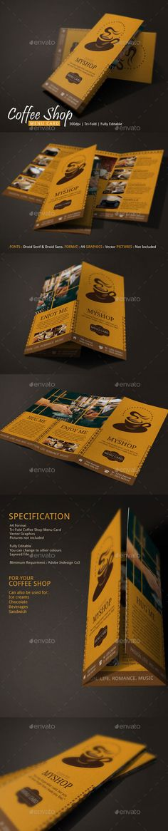 Coffee Shop Menu Vol2 - Nice menu design for your coffee business or cafe express resto. Check it out. #coffee #coffeeshop #coffeeshopmenu