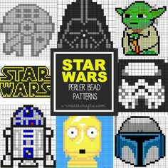 Star Wars Perler Bead Patterns for Kids I know it says Perler Beads, but this could totally work for Cross stitch ! Pearler Bead Patterns, Perler Patterns, Pearler Beads, Fuse Beads, Pixel Art Star Wars, Mosaico Lego, Perle Hama Star Wars, Cross Stitching, Cross Stitch Embroidery