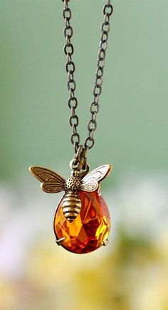 Honey Drop and Honey Bee Necklace  | Call A1 Bee Specialists in Bloomfield Hills, MI today at (248) 467-4849 to schedule an appointment if you've got a stinging insect problem around your house or place of business! You can also visit www.a1beespecialists.com!