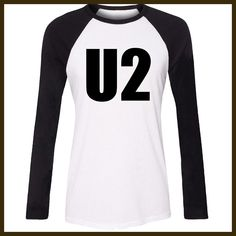 iDzn Women T-shirt U2 Alternative Rock Band Bono Adam Larry The Edge Pattern Raglan Long Sleeve Girl T shirt Print Lady Tee Tops