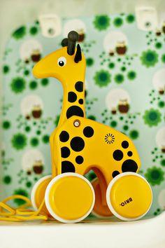 BRIO Giraffe Pull Toy