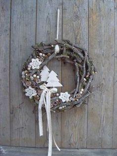 Csak természetesen - natúr ajtódísz, Dekoráció, Otthon, lakberendezés, Karácsonyi, adventi apróságok, Ünnepi dekoráció, Meska