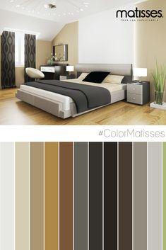 Para crear un estilo contemporáneo en la habitación, una buena opción es incluir una paleta de color que combine tonos neutros como el gris con uno más cálido como el beige.