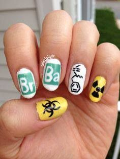 Breaking Bad nails design!