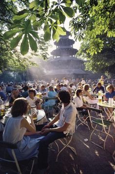 Chinesischer Turm, München - One of the most famous beer gardens in Munich, germany. I have been here several times love it