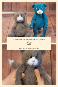 Made Video, Close Up Photos, Step By Step Instructions, Crochet Toys, Cats And Kittens, Crochet Patterns, Teddy Bear, This Or That Questions, Animals