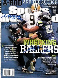 Michael Bennett & Cliff Avril Autographed Sports Illustrated Magazine Seattle Seahawks