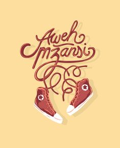 Aweh Mzansi Typography.  Inspired by South African street culture.