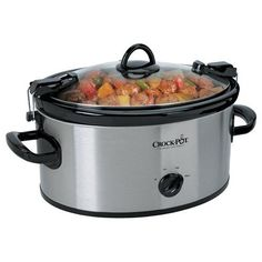 Crock-Pot Cook' N Carry 6-Quart Oval Manual Portable Slow Cooker, Stainless Steel VGUC SCCPVL600S