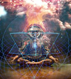 The Merkaba (Tetrahedron/Star of David) is used by most traditions to graph what occurs when one source separates to understand itself, and to expand its abilities. It is the core geometric form in many sacred graphs, such as the Far East Mandalas and Yantras. The merkaba represents source examining itself – what it is and is not – the polarities that exist to hold energy in place. It is often used as the symbol for creation itself, and in some cases the central symbol for certain deities.