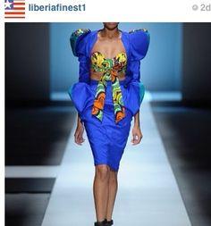 Liberian style dress ~Latest African Fashion, African Prints, African fashion styles, African clothing, Nigerian style, Ghanaian fashion, African women dresses, African Bags, African shoes, Nigerian fashion, Ankara, Kitenge, Aso okè, Kenté, brocade. ~DKK