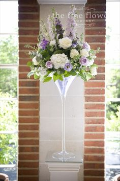 Beautiful ivory and lilac wedding flowers at Great Fosters » The Fine Flowers Company