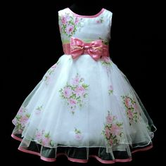 GRUKP573 Pink X,Mas Party Bridesmaid Flower Girls Dress Age 2,3,4,5,6,7,8,9 Y in Clothes, Shoes & Accessories, Kids' Clothes, Shoes & Accs., Girls' Clothing (2-16 Years) | eBay