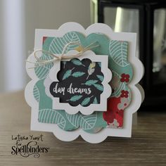 Spellbinders Shaped Card using Labels Forty Nine by Designer Latisha Yoast - Scrapbook.com
