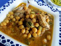 Cocinando para ellos : GARBANZOS CON COSTILLA Y VERDURAS