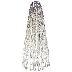 8 ft. Chain Link Murano Glass Chandelier by Gino Vistosi | From a unique collection of antique and modern chandeliers and pendants at https://www.1stdibs.com/furniture/lighting/chandeliers-pendant-lights/