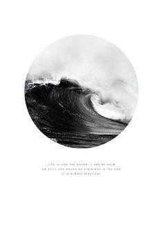 Poster mit Meeresfotografie und Text | Poster mit Sinnspruch
