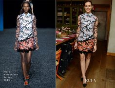 Allison Williams In Mary Katrantzou – Glamour Cover Star Dinner Party