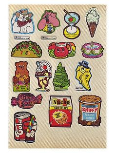 80's scratch n sniff stickers