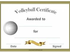 volleyball awards certificates free printable