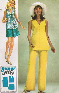 Peplum Dress, Etsy, Dresses, Fashion, Tunic Sewing Patterns, Vintage Sewing Patterns, Skirt Sewing, Trousers, Skirts