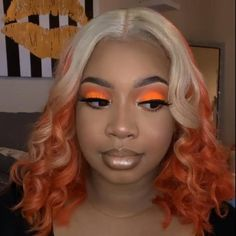 makeup videos Love the Hair Color Very Much😍 Real Hair Wigs, Human Hair Wigs, Beautiful Hair Color, Gorgeous Makeup, Baddie Hairstyles, Braided Hairstyles, Short Lace Front Wigs, Dip Dye Hair, Natural Hair Styles For Black Women