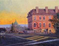 This old and beautiful building has a lot of character. Is located along the street bordering the Victoria Harbour. At sunset, the Customs House receive a striking light on this side of the wall that enhances the red-purple wall colour. Customs House, Original Art, Original Paintings, Victoria Harbour, Old Building, Photorealism, Beautiful Buildings, House Painting, Figurative Art