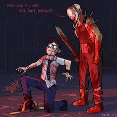 Dead by daylight Michael X, Michael Myers, Assassin's Creed Black, Amanda Young, Creepy Games, Horror Video Games, Funny Horror, Scary Art, Horror Comics