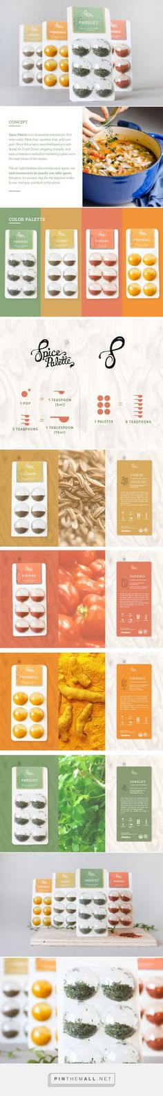 Mess free Spice packaging? Student #concept designed by Risa Takeuchi (USA) - http://www.packagingoftheworld.com/2016/03/spice-palette-student-project.html